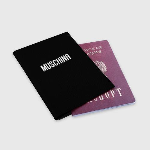 Обложка для паспорта матовая кожа  Фото 03, Muschina