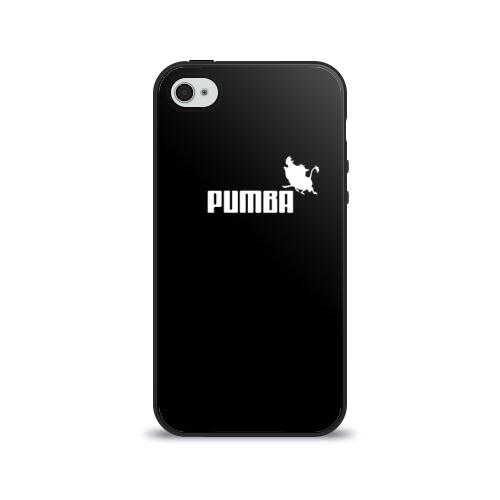 Чехол для Apple iPhone 4/4S силиконовый глянцевый  Фото 01, Pumba