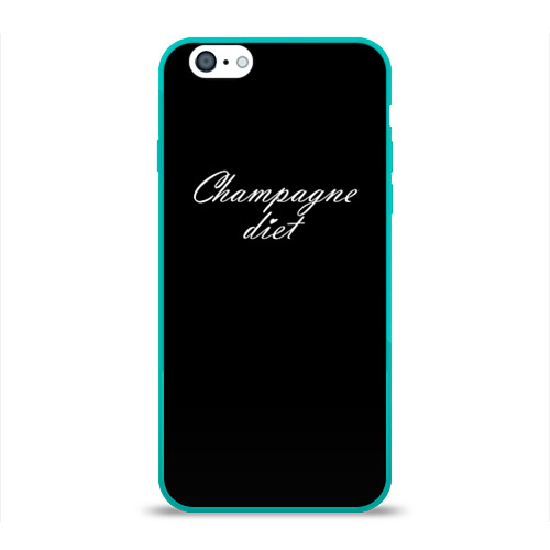 Чехол для Apple iPhone 6 силиконовый глянцевый Shampagne diet Фото 01