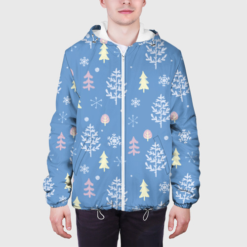 Мужская куртка 3D  Фото 04, Снежные елки