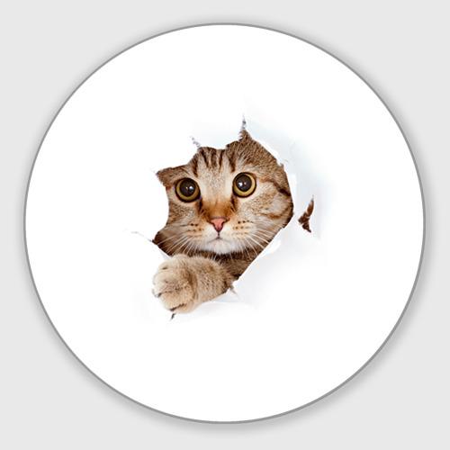 Коврик для мышки круглый Котик Фото 01