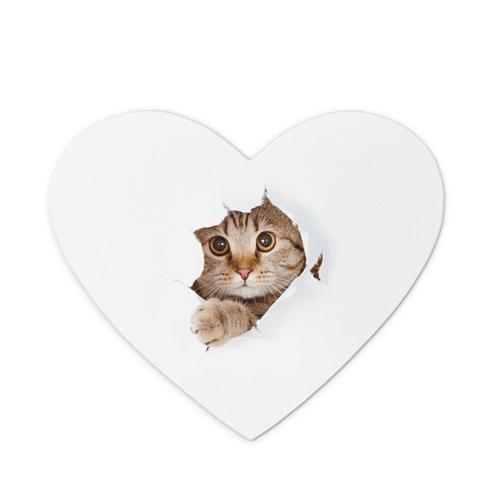 Коврик для мыши сердце  Фото 01, Котик