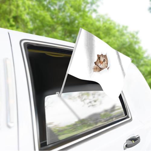 Флаг для автомобиля Котик Фото 01