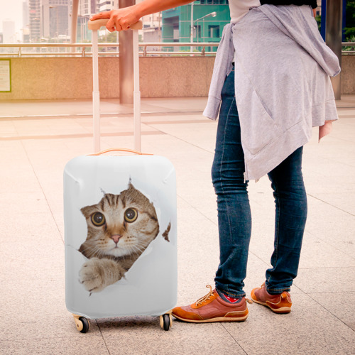 Чехол для чемодана 3D  Фото 04, Котик