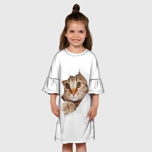 Детское платье 3D Котик