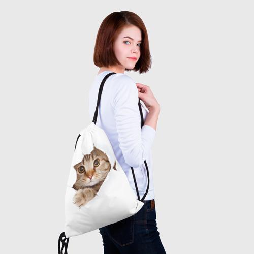 Рюкзак-мешок 3D Котик Фото 01