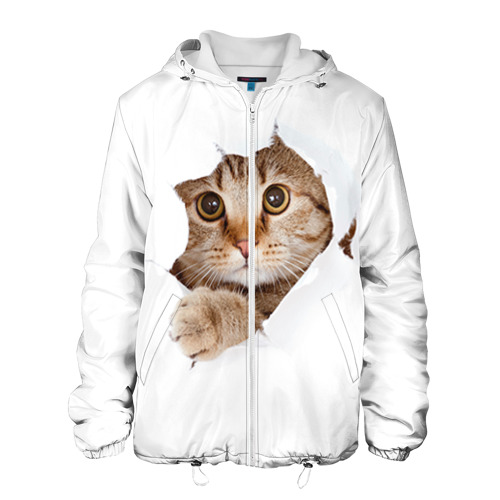 Мужская куртка 3D  Фото 01, Котик