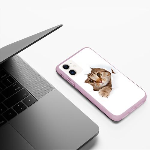Чехол для iPhone 11 матовый Котик Фото 01