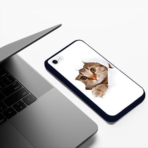 Чехол для iPhone 6/6S Plus матовый Котик Фото 01