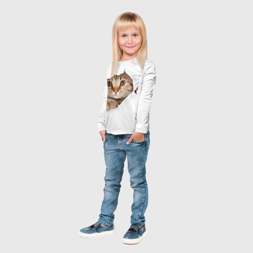Детский лонгслив 3D Котик Фото 01