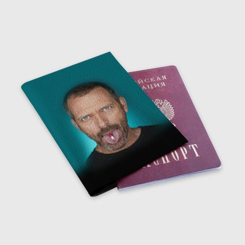 Обложка для паспорта матовая кожа  Фото 03, Доктор Хаус