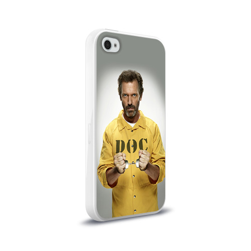 Чехол для Apple iPhone 4/4S силиконовый глянцевый  Фото 02, Доктор Хаус