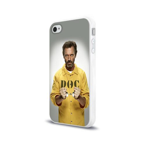 Чехол для Apple iPhone 4/4S силиконовый глянцевый  Фото 03, Доктор Хаус