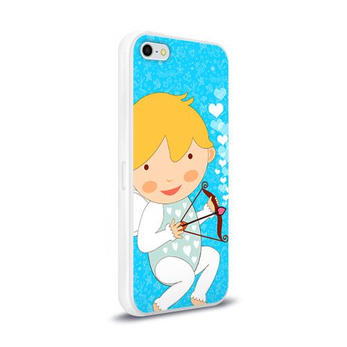 Чехол для Apple iPhone 5/5S силиконовый глянцевый  Фото 02, Ангел мальчик