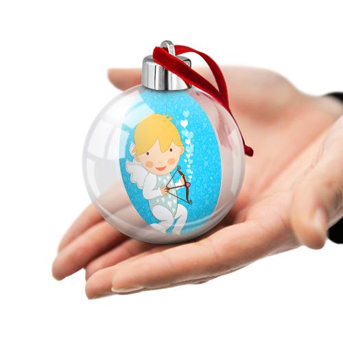 Ёлочный шар  Фото 02, Ангел мальчик