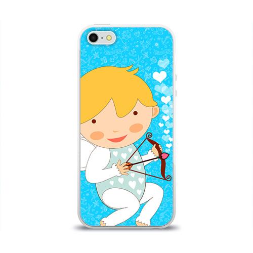 Чехол для Apple iPhone 5/5S силиконовый глянцевый  Фото 01, Ангел мальчик