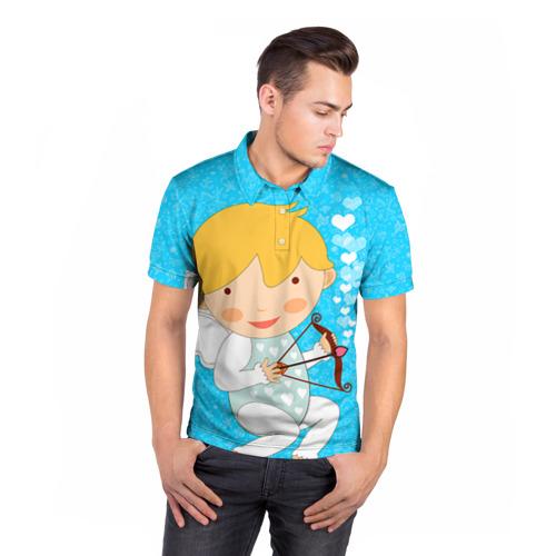 Мужская рубашка поло 3D Ангел мальчик Фото 01
