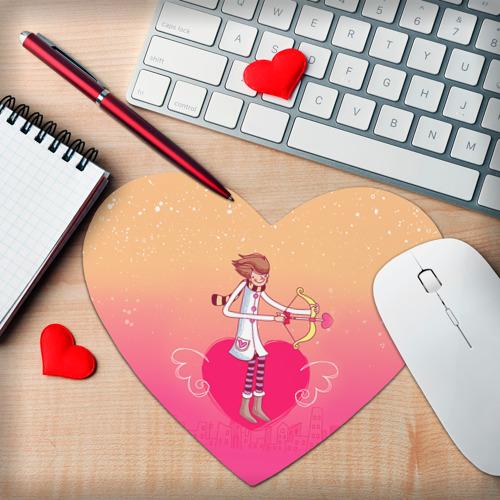 Коврик для мыши сердце  Фото 02, Влюбленные