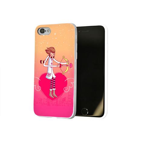 Чехол для Apple iPhone 8 силиконовый глянцевый Влюбленные