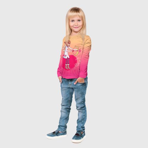 Детский лонгслив 3D  Фото 03, Влюбленные