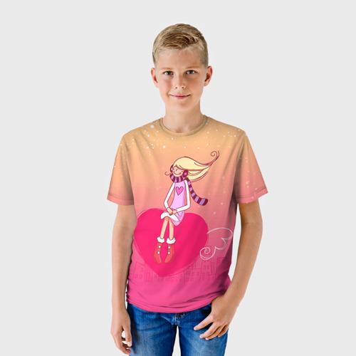Детская футболка 3D Влюбленные