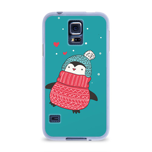 Чехол для Samsung Galaxy S5 силиконовый  Фото 01, Пингвинчик