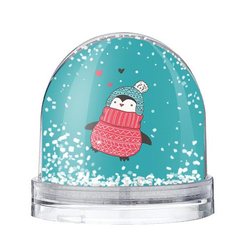 Водяной шар со снегом Пингвинчик