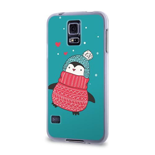 Чехол для Samsung Galaxy S5 силиконовый  Фото 03, Пингвинчик