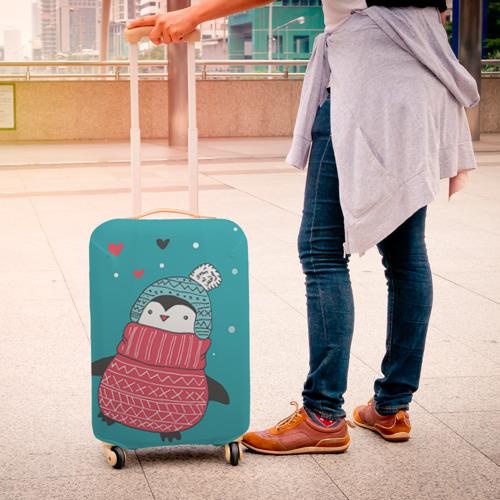 Чехол для чемодана 3D Пингвинчик Фото 01