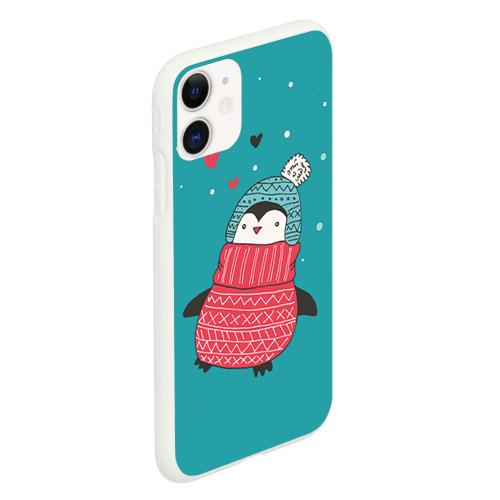Чехол для iPhone 11 матовый Пингвинчик Фото 01