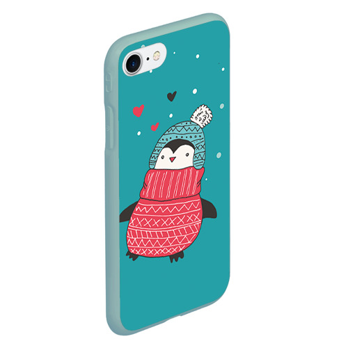 Чехол для iPhone 7/8 матовый Пингвинчик Фото 01