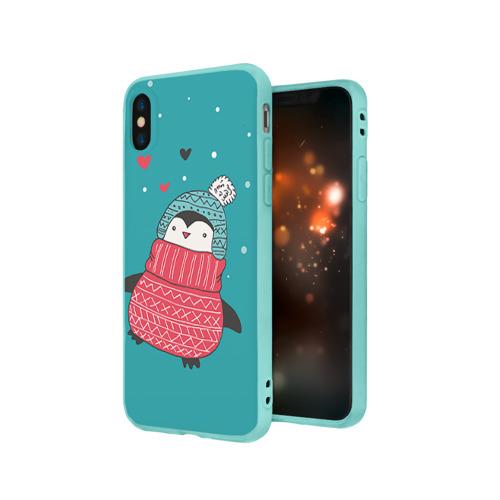 Чехол для iPhone X матовый Пингвинчик Фото 01