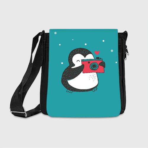 Сумка через плечо Пингвин с фотоаппаратом Фото 01