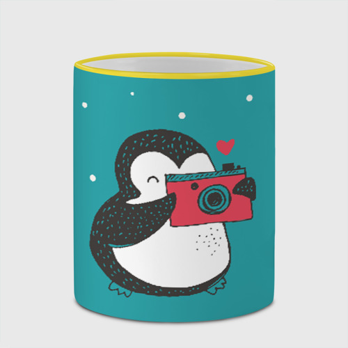 Кружка с полной запечаткой  Фото 03, Пингвин с фотоаппаратом
