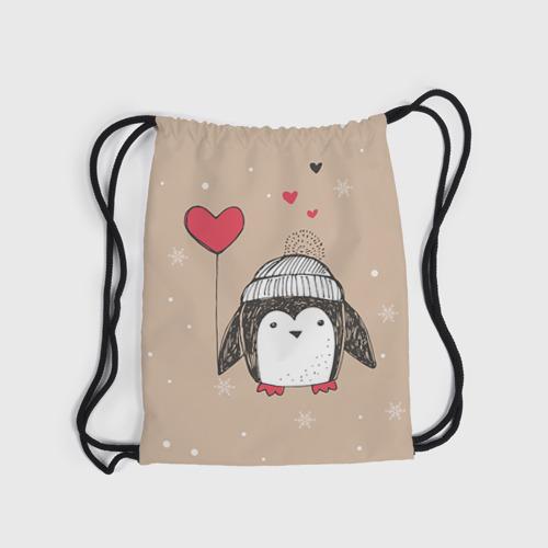 Рюкзак-мешок 3D Пингвин с шариком Фото 01