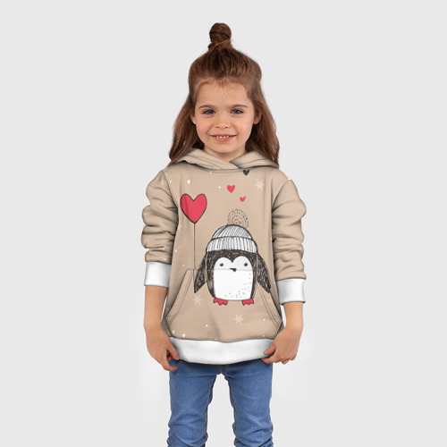 Детская толстовка 3D Пингвин с шариком
