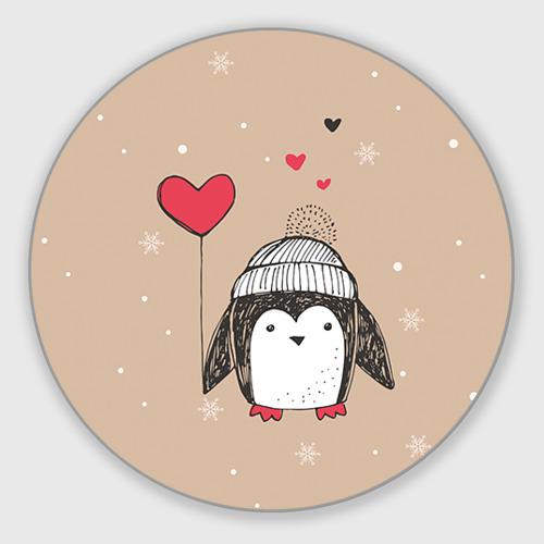 Коврик для мышки круглый Пингвин с шариком Фото 01