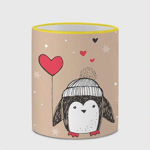 Кружка с полной запечаткой  Фото 03, Пингвин с шариком