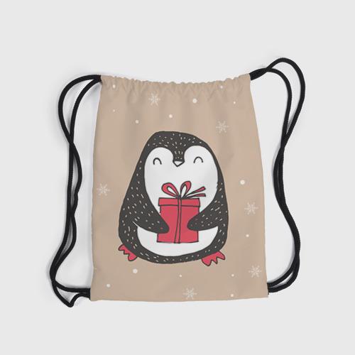 Рюкзак-мешок 3D Пингвин с подарком Фото 01