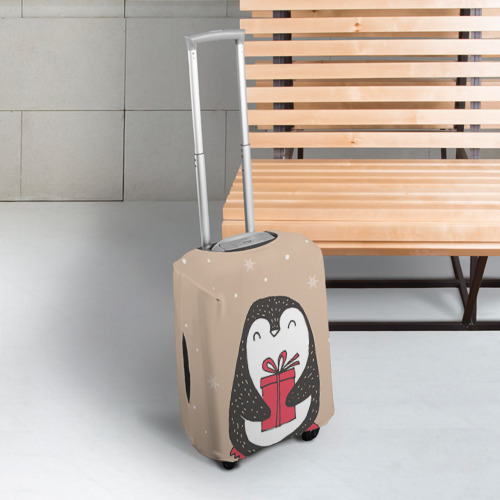 Чехол для чемодана 3D Пингвин с подарком Фото 01