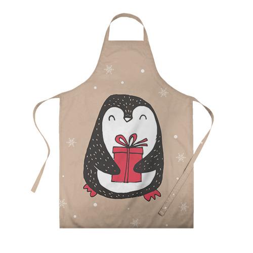 Фартук 3D Пингвин с подарком