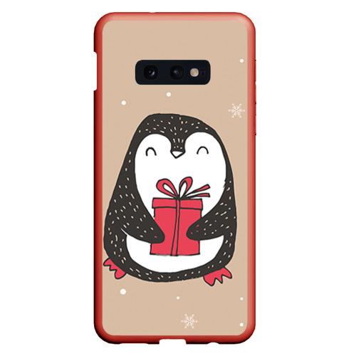 Чехол для Samsung S10E Пингвин с подарком Фото 01