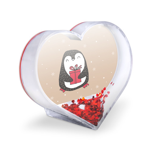 Сувенир Сердце  Фото 03, Пингвин с подарком