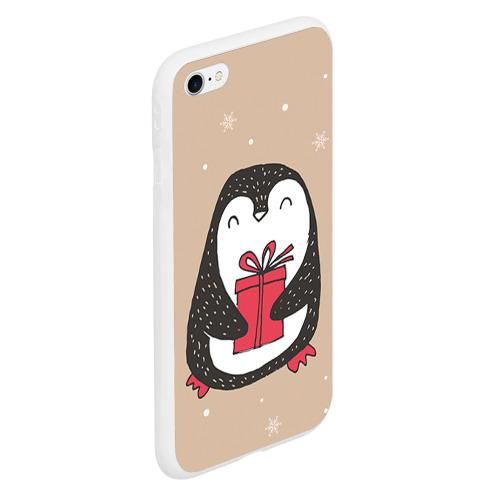 Чехол для iPhone 6Plus/6S Plus матовый Пингвин с подарком Фото 01