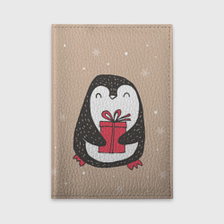 Пингвин с подарком