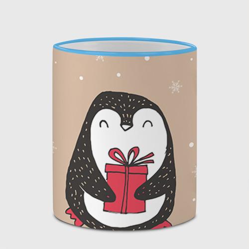 Кружка с полной запечаткой  Фото 03, Пингвин с подарком