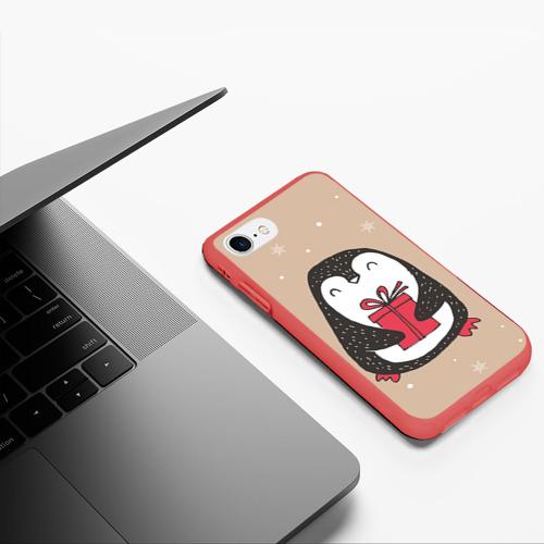 Чехол для iPhone 7/8 матовый Пингвин с подарком Фото 01