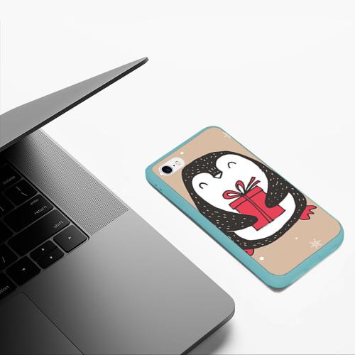 Чехол для iPhone 6/6S матовый Пингвин с подарком Фото 01