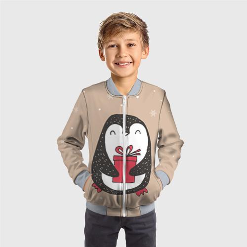 Детский бомбер 3D Пингвин с подарком Фото 01