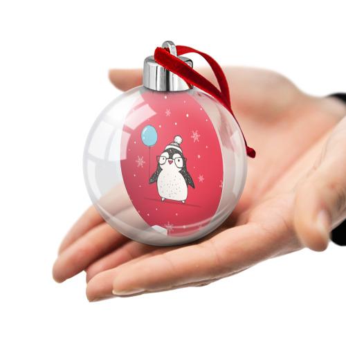 Ёлочный шар  Фото 02, Пингвин с шариком